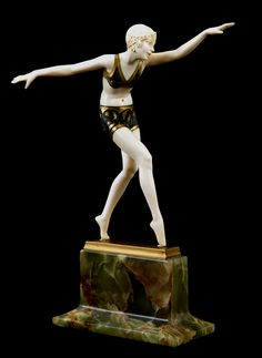 An Art Deco chryselephantine sculpture by Ferdinand Preiss, Germany, 1930s.