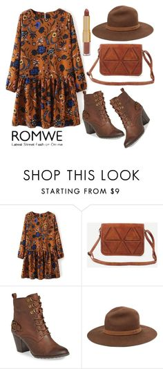 """ROMWE Camel Bag - 11122016"" by filmaandry ❤ liked on Polyvore featuring Bella Vita, rag & bone and tarte"