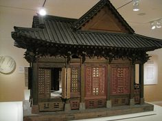 dollhouse size Chinese temple at Peabody Museum (like the Peabody Essex Museum , don;t remember seeing this)