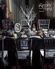Edgar Allan Poe themed dinner party inspiration by Smarty Had A Party. Click for more photos.