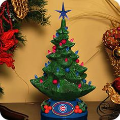 Get this Chicago Cubs Lighted Christmas Tree at WrigleyvilleSports.com $39.96