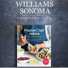 Oh me, oh my! Williams Sonoma's Cookbook Club features the MasterChef Junior Cookbook. You'll make the Pumpkin Ravioli with Creamy Alfredo Sauce and Lava Cakes recipes directly from the book. Call your local store to sign up! #tasterich #kitchenaid #kitchenware #foodporn #food #kitchen#Easycooking #cookingmate #eatclean #livingwell #eatwell #cleaneating #healthyeating #ecomom #cookinglovers #cookingtools  #cookingutensil
