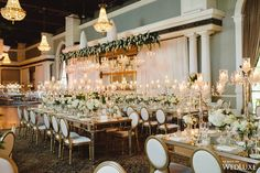 A Romantic Reception Filled With Sparkling Crystal Decor and Blooming Florals Accents | WedLuxe Magazine
