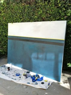 DIY Painting, this one was made to be mounted behind a headboard.