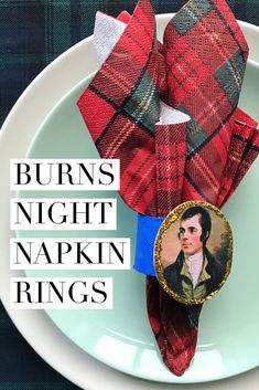 Easy-peasy DIY napkin rings for Burns Night, to add a bit of sparkle to your Burns Supper! Burns Night Napkins, Burns Night Table Decorations, Burns Night Crafts, Robbie Burns Night, Tartan Decor, Dementia Crafts, Burns Supper, Adult Party Themes, Robert Burns
