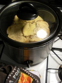 Crockpot French toast  6 eggs 2c milk 1/2 c Light brown sugar  Teaspoon of vanilla Teaspoon of cinnamon  Cook on low 3-4 hours