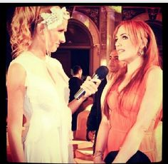 Anatalya awards while giving interview