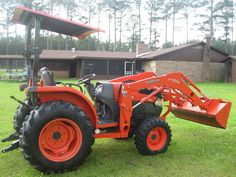 this one with a mower deck, rake, shovel and an ag shredder Kubota Tractors, Shovel, Deck, Backyard, Big, Tractors, Dustpan, Patio, Front Porches
