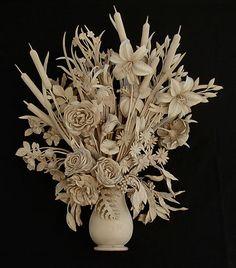 trophy / still life « David Esterly Fine Arts Center, Art Calendar, Wood Carving Art, Wooden Art, Art Festival, How To Antique Wood, Wood Sculpture, Vintage Walls, Flower Art