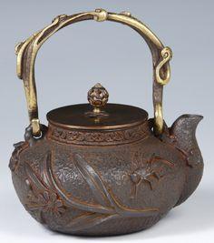 HG19 Japanese Tetsubin Cast Iron Pot Chagama Teapot   eBay