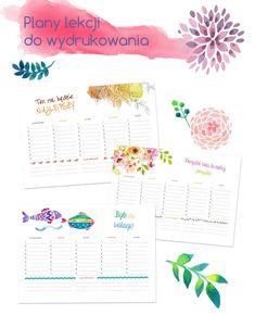 Plan lekcji do wydrukowania School Timetable, Back To School, Bullet Journal, How To Plan, Education, Diy, Olaf, Design, Printables