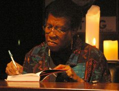 Octavia E. Butler - (June 1947 – February was an American science fiction writer. A multiple recipient of both the Hugo and Nebula awards, in 1995 she became the first science fiction writer to receive a MacArthur Fellowship. Sci Fi Authors, Science Fiction Authors, Sci Fi Books, Fantasy Authors, Black History Month, Octavia E Butler, Cheesy Lines, Black Authors, Writers