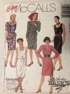 New Vintage McCall's Pattern 4903 Misses Size 8-10-12 Dress Cut To Fit  | eBay