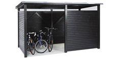 bicycle shed - Fahrrad Pergola Patio, Pergola Plans, Backyard Landscaping, Pergola Kits, Pergola Ideas, Indoor Bike Storage, Bicycle Storage, Garage Velo, Diy Shed Plans