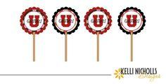 University of Utah Cupcake Toppers