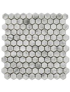 Bianco Carrara 1x1 Hexagon Polished Marble Mosaic Tile #bianco_carrara_marble #hexagon_mosaic_tile Hexagon Mosaic Tile, Marble Mosaic, Glass Mosaic Tiles, Carrara Marble, Polish, Vitreous Enamel, Nail, Nail Polish, Nail Polish Colors
