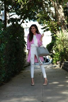 hendri bendel, stripes, strip back, pink style, pink, gina tricot, topshop, white jeans, nordstrom , what is fashion, affordable finds, style tips, trends, look for less, sazan, barzani, los angeles, blogger,what to wear, ootd, instagram, kardashian, style, kim kardashian, khloe kardashian, kourtney kardashian, kardashian collection, ripped jeans, DIY, kurdish, fashion, style, beauty, bold trends, spring 2015