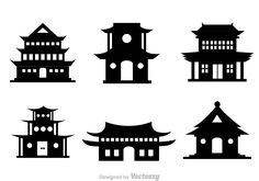 chinese-temple-black-vector-icons.jpg (1400×980)