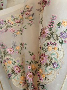 Gallery.ru Lovely, not sure if this is hand embroidery or that and something else. I do know it is beautiful!