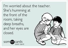 """You're the answer to my security question: """"Who was your favorite teacher in high school?"""" 