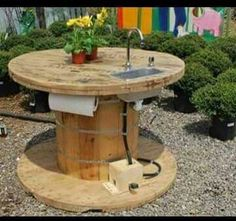 Spool sink