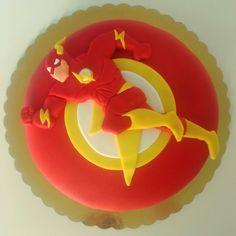 The flash marvel fondant handmade elisocakestudio birthday figure red yellow