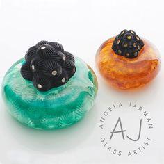 Portfolio Project: Angela Jarman Glass Artist | Beehive Green Design Studio | Logo and Branding Design, WGC, Hertfordshire