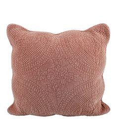 Look what I found on #zulily! Terra Cotta Quilted Throw Pillow #zulilyfinds