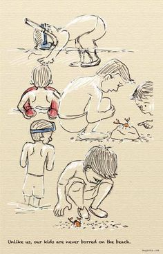 Croatia, Viniscie - kids on the beach