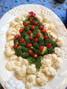 Veggie tree for a Christmas party