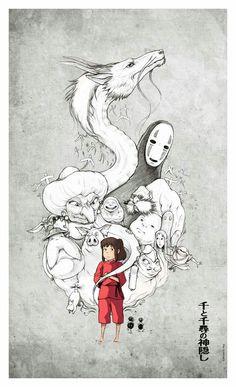 Ghibli Studios' Spirited Away Art Studio Ghibli, Studio Ghibli Films, Studio Ghibli Tattoo, Hayao Miyazaki, Film Anime, Manga Anime, Anime Art, Anime Quotes Tumblr, Anime Body