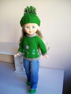 Nancy Doll, Knit Crochet, Crochet Hats, Doll Dress Patterns, Amigurumi Doll, American Girl, Doll Clothes, Arts And Crafts, Barbie