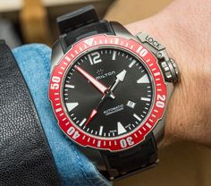 """Hamilton Khaki Navy Frogman Watch Hands-On - by David Bredan See more great pictures at: aBlogtoWatch.com """"Baselworld, thank goodness, is not exclusively about the most complicated, the most exclusive, the super expensive. There are relatively much more affordable, fun, and cool watches too, and when we covered the Hamilton Khaki Navy Frogman release a few moons back, I put it on my list of 'must-see pieces at BaselWorld 2016.' See it we did..."""""""