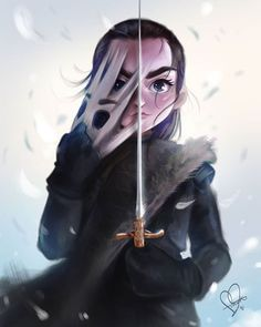 Arya Stark - Game of Thrones - Game of thrones Dessin Game Of Thrones, Arte Game Of Thrones, Game Of Thrones Sansa, Game Of Thrones Facts, Jon And Arya, American Horror Story Movie, Game Of Thones, Sarada Uchiha, Valar Morghulis