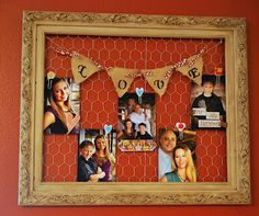 Repurposed Frame. love the chicken wire