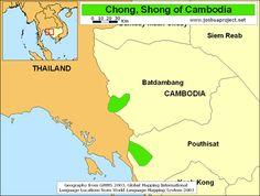 Pray / Chong, Shong of Cambodia map