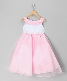Look at this #zulilyfind! Pink Floral Two-Tone Tulle Dress - Infant by Sophia Young #zulilyfinds