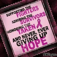 To all breast cancer fighters and survivors