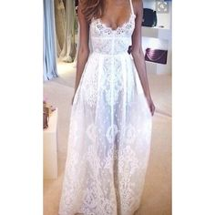 NWT White Lace Gown Maxi Dress Absolutely stunning all lace maxi dress. Perfect for engagement photos or a special occasion. Suggest tailoring it so that it fits to your specific measurements like the first photo  listed under Windsor for exposure WINDSOR Dresses Maxi