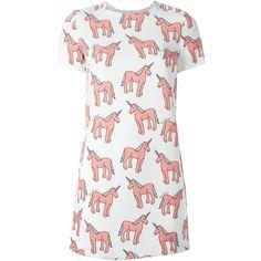 Au Jour Le Jour unicorn print shift dress