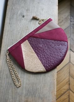 Pochette *THEA* bordeaux Madame Zouzou. Collection automne hiver 2017. Fait main - made in Paris. © Madame Zouzou 2017