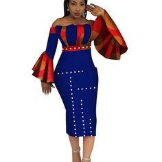 Dashiki Party Hot Vestidos For Women Cotton Print Mid-Calf African Clothing