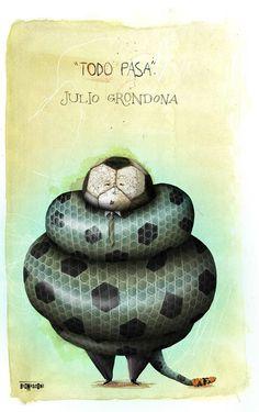 J. Grondona. Pablo Bernasconi, diseñador gráfico argentino.