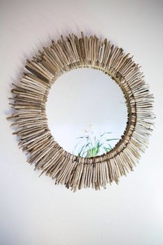 "36"" Double Layer Round Driftwood Mirror"