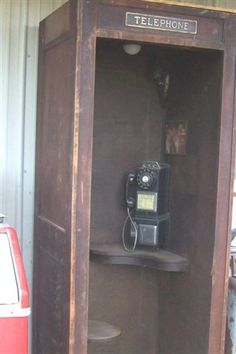 Wooden phonebooth
