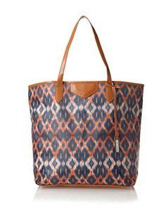 58% OFF Urban Originals Women's Ballina Print Tote Bag, Orange Batik