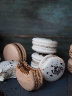 Makroner med oreofyll. Ice Cream Taco, Macaroons, Sweet Treats, Food And Drink, Baking, Breakfast, Yum Yum, Recipes, Ideas