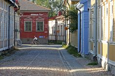 Rauma, my hometown. The downtown, Old Rauma is a UNESCO World Heritage site. Lovely place!
