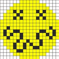 Nirvana Smiley Perler Bead Pattern