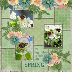 Layout featuring Sherwood Studio digital scrapbooking kit ROMANTIC SPRING and ROMANTIC SPRING add on bundle which includes two packs of templates ... this one is THE PHOTO PROJECT - CARDED 4 http://www.thedigichick.com/shop/Romantic-Spring-Add-on-Bundle.html ARTIST: poki
